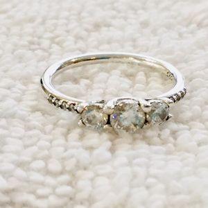 Pandora Jewelry - Pandora Three Zirconia Sterling Ring Size 4.25